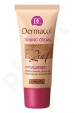 Dermacol Toning Cream 2in1, 30ml, makiažo pagrindas, (Atspalvis Caramel)