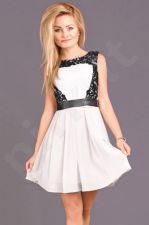 Emamoda suknelė - balta spalva 6708-4