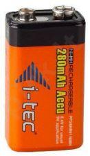 Įkraunama baterija i-tec 9V Ni-MH, 280mAh PP3 / 6HR61 -  9V