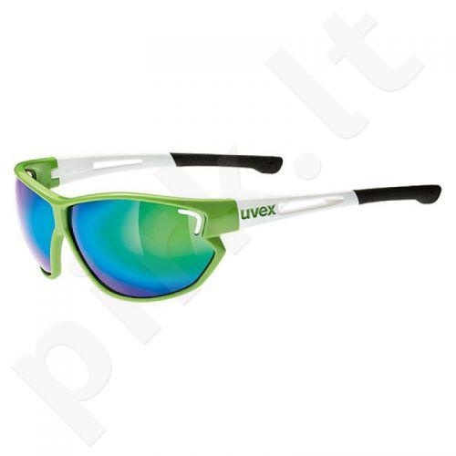 Akiniai Uvex Sportstyle 810 žalia-baltas