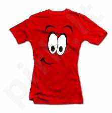 """Moteriški marškinėliai """"Linksmas veidukas"""""""