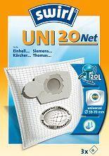 Universalus filtras cilindriniams dulkių siurbliams SWIRL UNI20/3 Net D.s. filtras