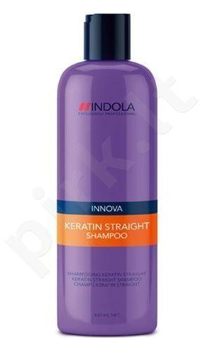 Indola Innova Keratin Straight šampūnas, 300ml, kosmetika moterims