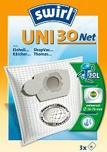 Universalus filtras cilindriniams dulkių siurbliams SWIRL UNI30/3 Net D.s. filtras