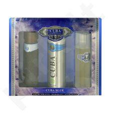 Cuba Blue, rinkinys tualetinis vanduo vyrams, (EDT 100ml + 200ml dezodorantas + 100ml losjonas po skutimosi water)