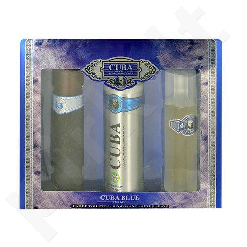 Cuba Blue rinkinys vyrams, (EDT 100ml + 200ml dezodorantas + 100ml losjonas po skutimosi water)