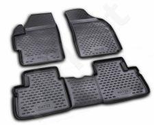 Guminiai kilimėliai 3D DAEWOO Matiz 2005-2009, 4 pcs. /L12002
