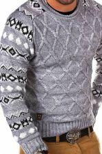 Norvegiškas vyriškas megztinis CRSM - pilka 9513-1