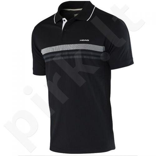 Marškinėliai tenisui Head Club Men Polo Shirt Technical 811655 juoda