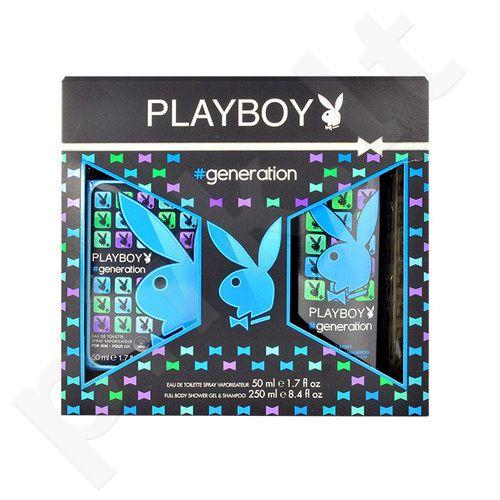 Playboy Generation For Him rinkinys vyrams, (EDT 50ml + 250ml dušo želė)