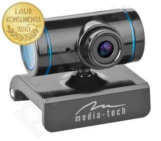 Web kamera Media-Tech Z-Cam, VGA, Su mikrofonu, USB, Mėlyna/Juoda