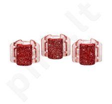 Linziclip Mini Hair Clip, kosmetika moterims, 1vnt, (Red Glitter)