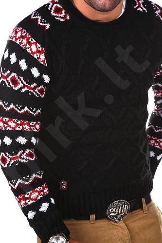 Norvegiškas vyriškas megztinis CRSM - juoda 9513-2