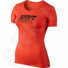 Marškinėliai treniruotėms Nike Pro Cool SS Top W 725747-696