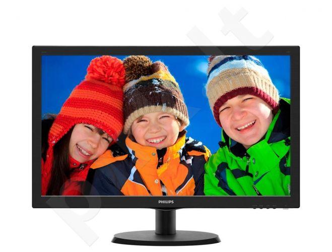 Monitorius Philips V-line 223V5LSB 21.5'' LED FHD, DVI, 250 cd/m2, 170/160