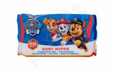 Nickelodeon Paw Patrol, Baby Wipes, drėgnosios servetėlės vaikams, 56pc