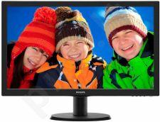 Monitorius Philips V-line 243V5LSB 23.6'' LED FHD, DVI, 250 cd/m2, 170/160