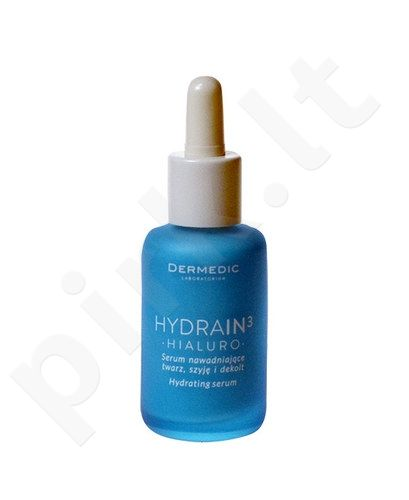 Dermedic HydraIn3 Hialuro Hydrating serumas For Face Neck, kosmetika moterims, 30ml
