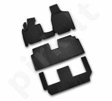 Guminiai kilimėliai 3D CHRYSLER Grand Voyager RT, 2008-> 4pcs. 3 row. /L09003