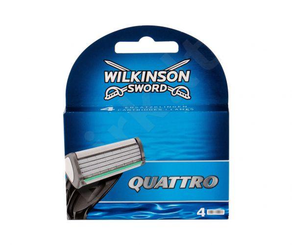 Wilkinson Sword Quattro, keičiamos galvutės vyrams, 4pc