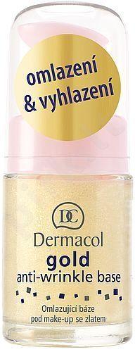 Dermacol Gold Anti-Wrinkle Base, 15ml, kosmetika moterims
