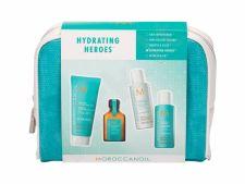 Moroccanoil Hydration, rinkinys šampūnas moterims, (šampūnas 70 ml + kondicionierius 70 ml + plaukų kaukė 75 ml + plaukų Oil 25 ml + kosmetika krepšys)