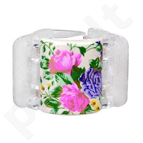 Linziclip Midi Hair Clip, kosmetika moterims, 1vnt, (White Pearl Flowers)