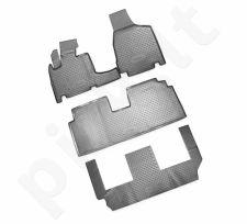 Guminiai kilimėliai 3D CHRYSLER Grand Voyager RT, 2008-> 4pcs. 3 row. /L09003G /gray