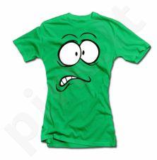 """Moteriški marškinėliai """"Išsigandęs veidukas"""""""