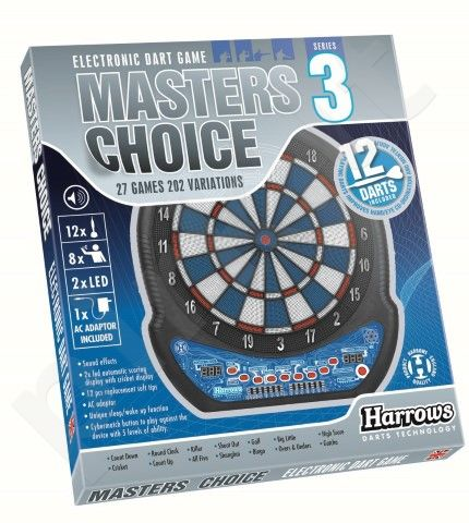 Taikinys MASTERS CHOICE 3 DART GAME elektr. su str