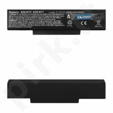 Qoltec Long Life Notebook Battery  Asus A32-K72 | 11.1 V | 4400 mAh