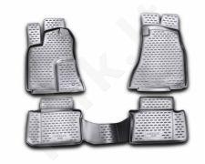 Guminiai kilimėliai 3D CHRYSLER 300C 2004-2012, 4 pcs. /L09001G /gray