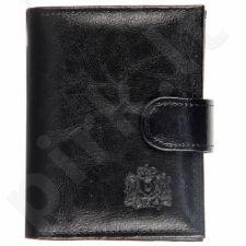 P148 juoda  odinė  piniginė, vyrams