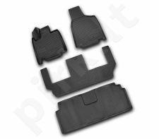 Guminiai kilimėliai 3D DODGE Grand Caravan 2008-2011, (USA), 4 pcs. /L16002