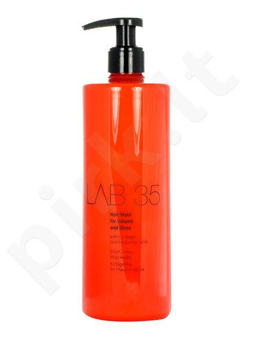 Kallos Lab 35 plaukų kaukė For Volume And Gloss, kosmetika moterims, 500ml