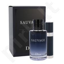 Christian Dior Sauvage rinkinys vyrams, (EDT 100 ml + EDT 7,5 ml)