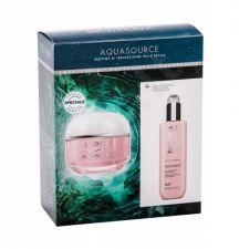 Biotherm Aquasource, rinkinys dieninis kremas moterims, (Daily Facial Care 50 ml + makiažo pagrindas Removing Milk Biosource 200 ml) [pažeista pakuotė]