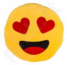 """Pliušinė pagalvė """"Emocija: širdelės"""" (50cm)"""