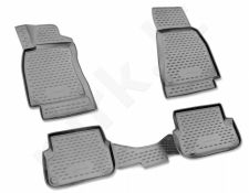 Guminiai kilimėliai 3D HUMMER H3 2005-2010, 4 pcs. /L29001G /gray