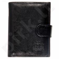 P152 juoda  odinė  piniginė, vyrams