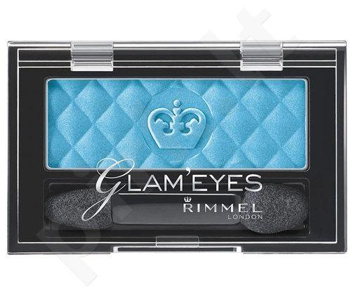 Rimmel London Glam Eyes Mono akių šešėliai, kosmetika moterims, 2,4g, (214 Jet Black)