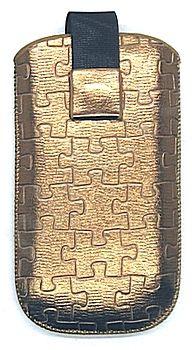 17 MAGNET PUZZLE universalus dėklas N5800 Telemax auksinis