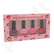 2K Nails With A Kiss nagų lakų rinkinys moterims, (nagų lakas 4 x 6 ml)