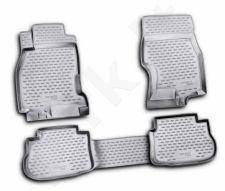 Guminiai kilimėliai 3D INFINITI FX35 2003-2009, 4 pcs. /L30007G /gray
