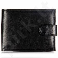P156 juoda  odinė  piniginė, vyrams