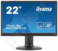 Monitorius Iiyama B2280HS-B1DP 21.5'' LED FHD, 2ms, DP, HDMI, DVI, Garsiakalbiai