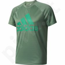 Marškinėliai treniruotėms Adidas Designed 2 Move Tee Logo M BK0935