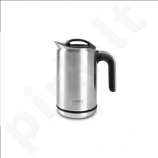 Caso Kettle Cool-Touch  With electronic control, Stainless steel, Silver, 1500 – 1800  W, 1 L