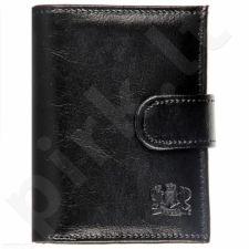 P158 juoda  odinė  piniginė, vyrams