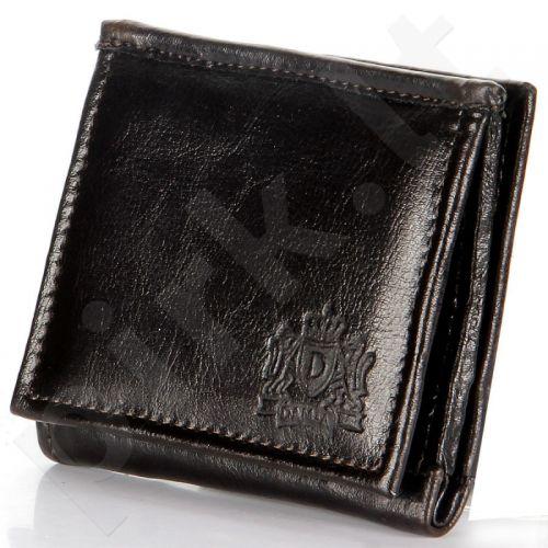 P143 šokolado spalvos odinė  piniginė, vyrams